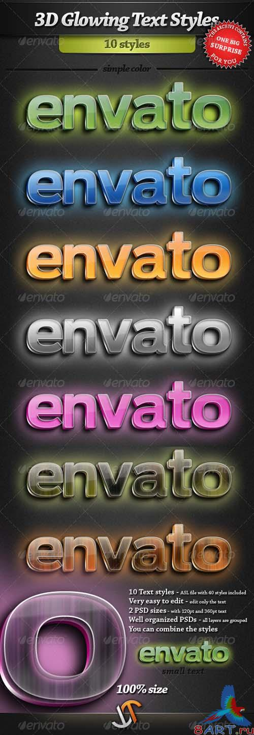 GraphicRiver 3D Glowing Text Styles