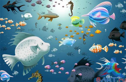 PSD - Underwater World Template
