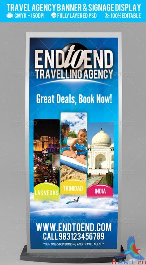 GraphicRiver Travel Agency Banner & Signage Display PSD