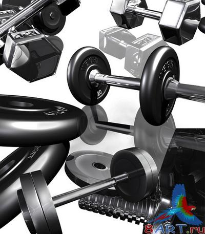 PSD Layered Pictures - Gym, Вumbbells, Weight