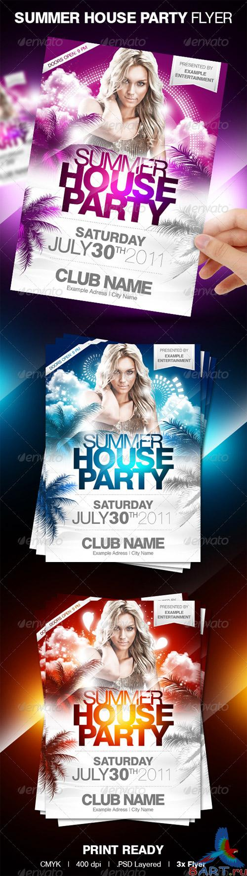Summer House Party Flyer - GraphicRiver