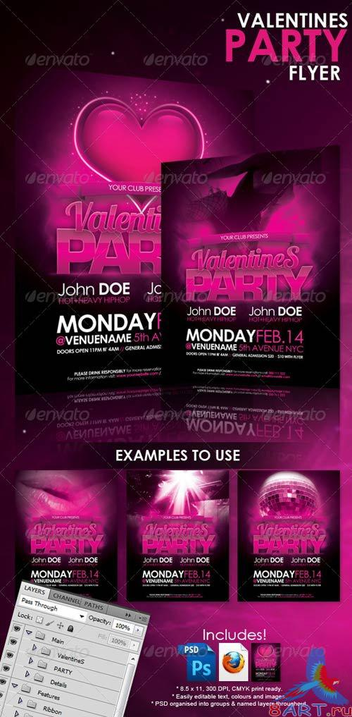 GraphicRiver Valentines Party Flyer 150097