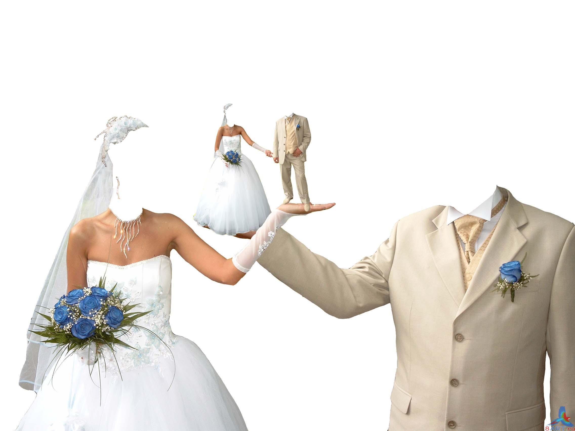 Фотомонтаж Свадебный Платья