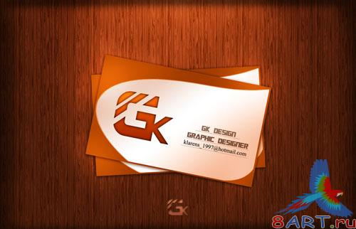 PSD Template - G.K Design Business Card