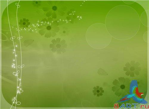 PSD - Green Flowers Pattern