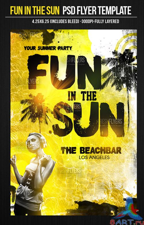PSD Template - Fun in the Sun Flyer/Poster