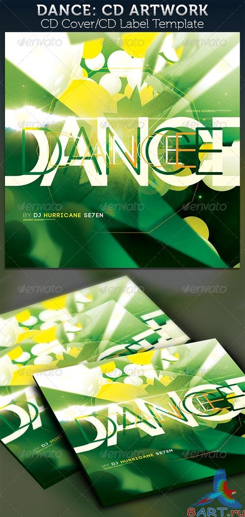 GraphicRiver Dance: CD Cover Artwork Template