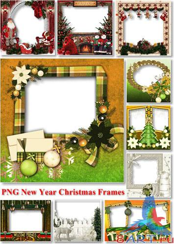 PNG New Year Christmas Frames