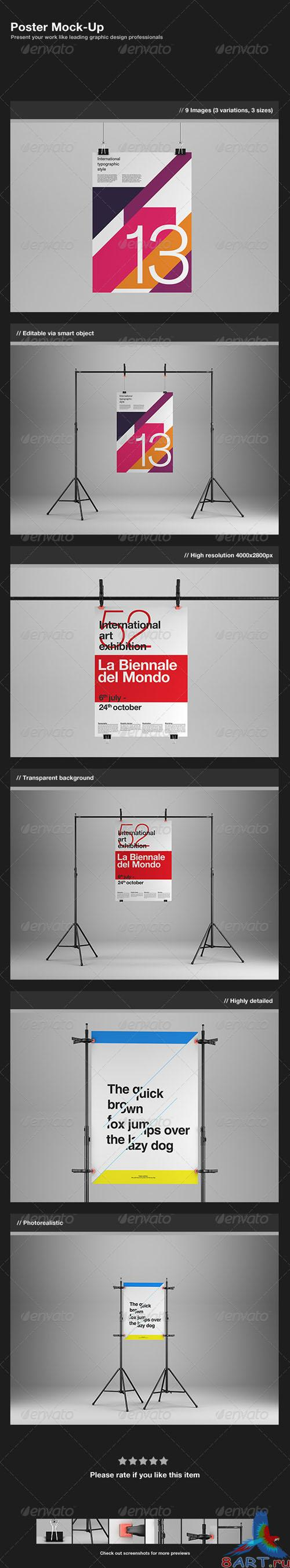 GraphicRiver Poster Mock-Up - REUPLOAD