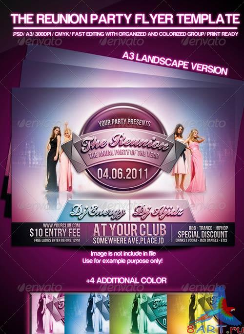 GraphicRiver The Reunion Party Flyer Template