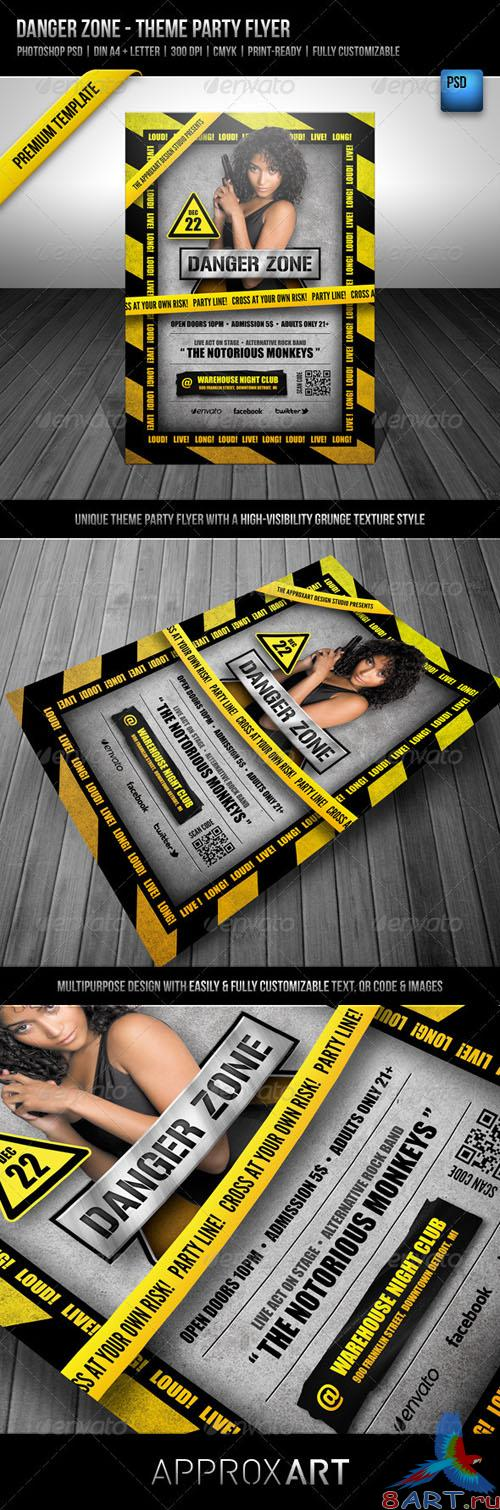 GraphicRiver - Danger Zone - Theme Party Flyer 2561644