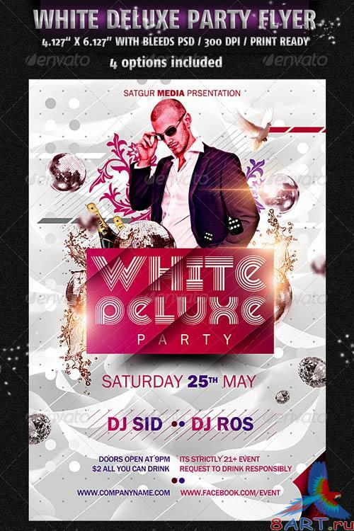 GraphicRiver White Deluxe Party Flyer