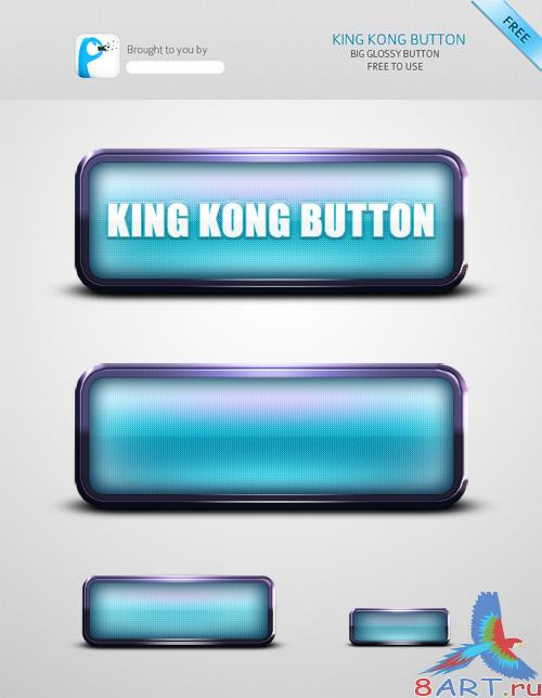 King Kong Web Button PSD