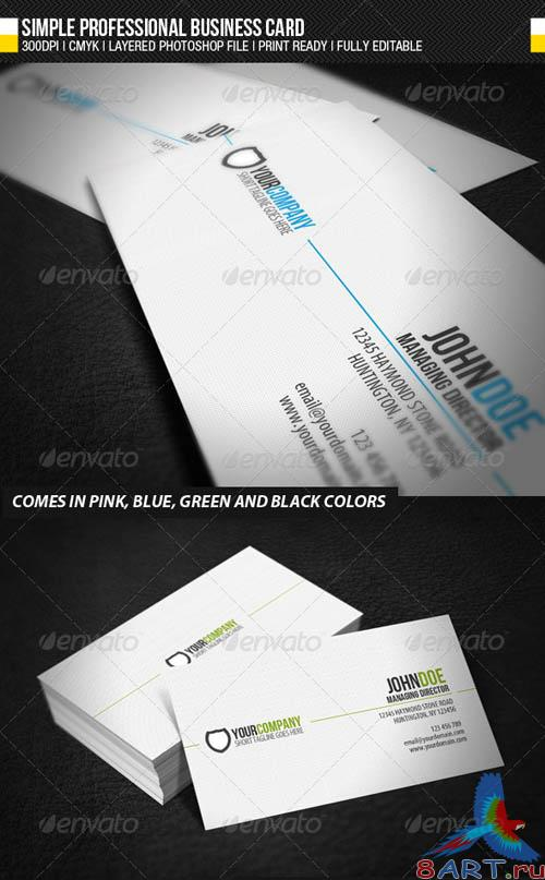 GraphicRiver Simple Professional Business Card