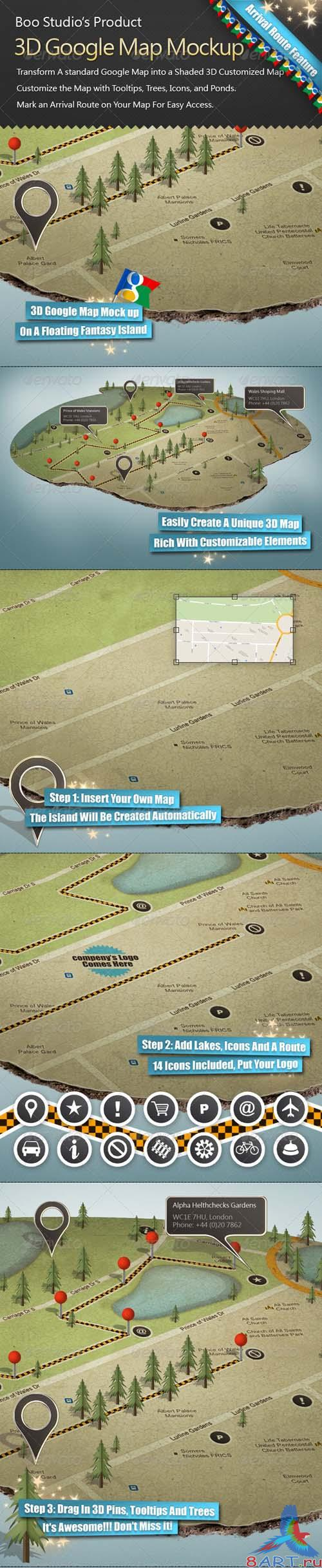 GraphicRiver 3D Google Map Mock up - REUPLOAD
