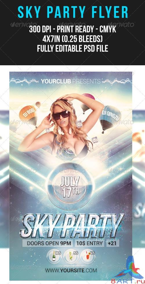 GraphicRiver Sky Party Flyer