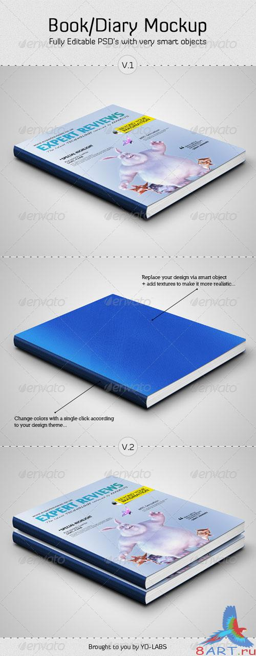 GraphicRiver Book and Diary Mockup