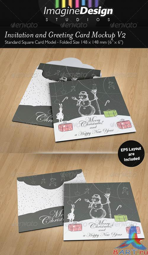 GraphicRiver Invitation and Greeting Card Mockup V2