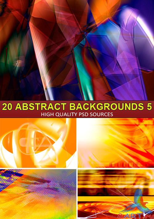 PSD Sources - 20 Abstract backgrounds 5