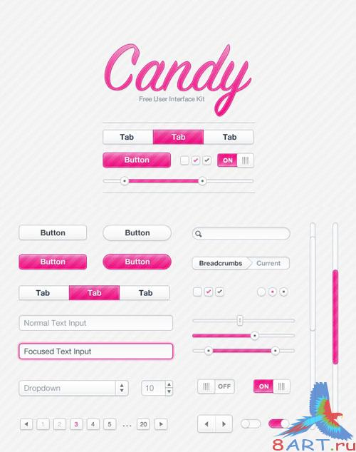 Candy UI Kit - MediaLoot