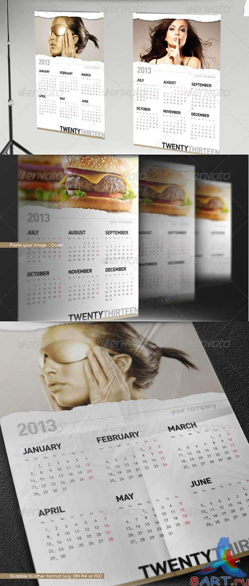 GraphicRiver 2013 Calendar // Wall Poster Template // Paper Rip