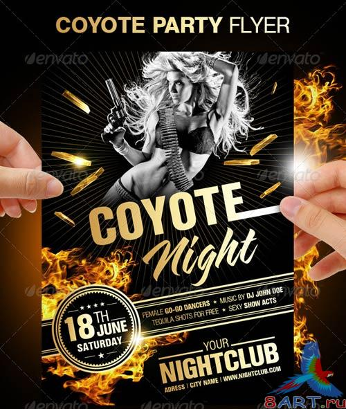 GraphicRiver Coyote Ugly Night Flyer