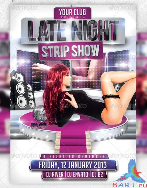 GraphicRiver Strip Show Flyer Template