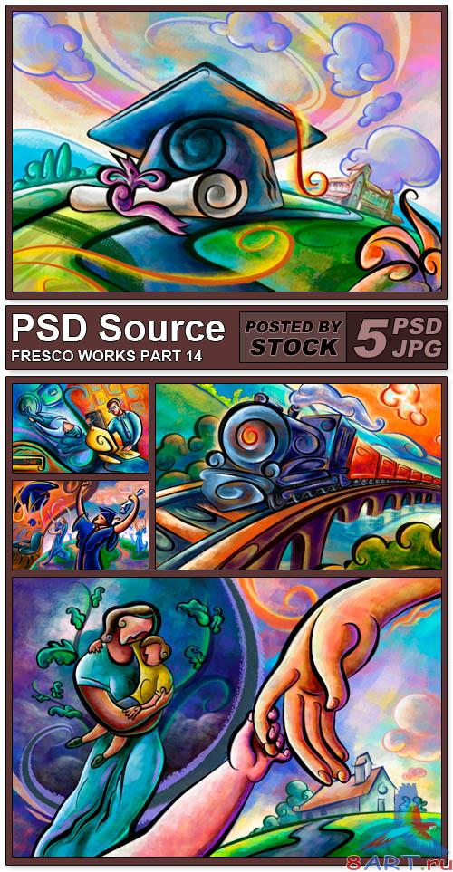 PSD Source - Fresco works 14