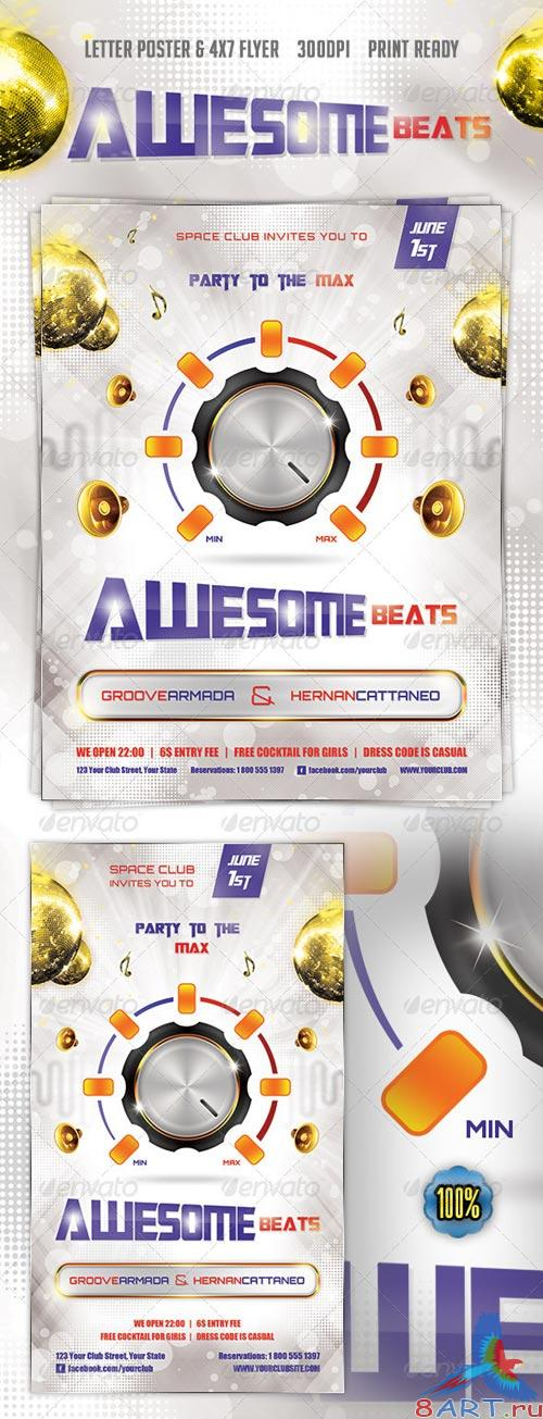 GraphicRiver Awesome Beats Poster & Flyer