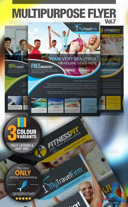 GraphicRiver Multipurpose Business Flyer Vol.7