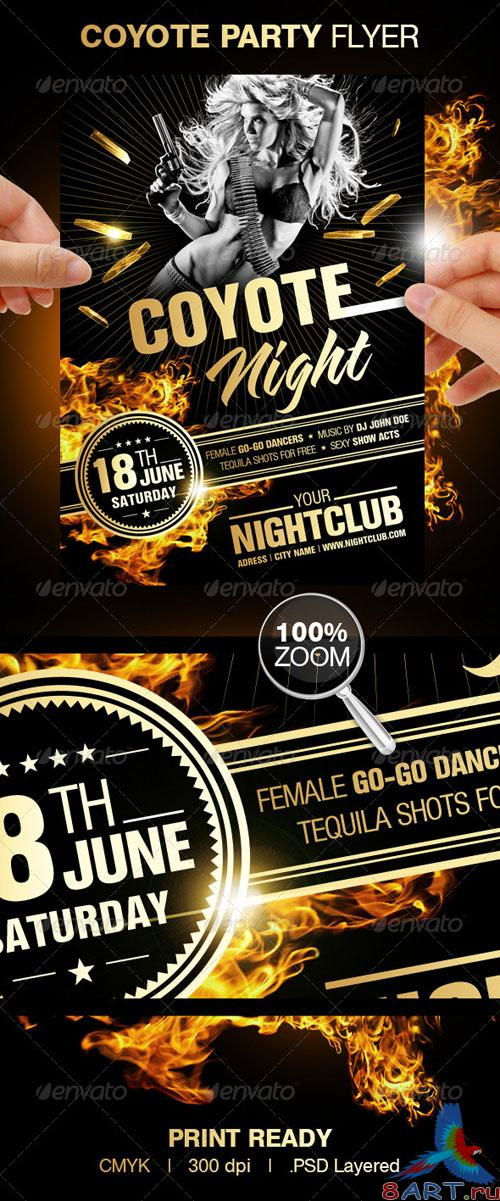 Coyote Night Party Flyer - GraphicRiver