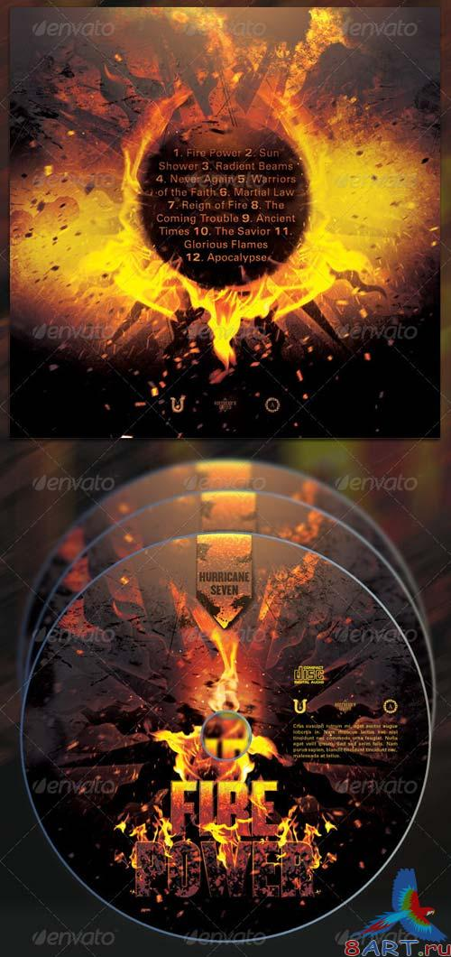 GraphicRiver Fire Power CD Cover Template