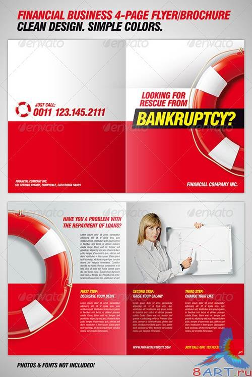 GraphicRiver Financial Business 4-Page Flyer/Brochure