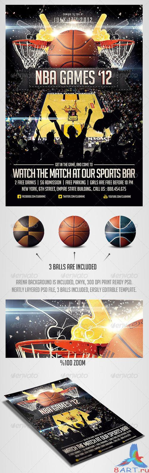 GraphicRiver - BasketBall Sports Flyer Template 2561828