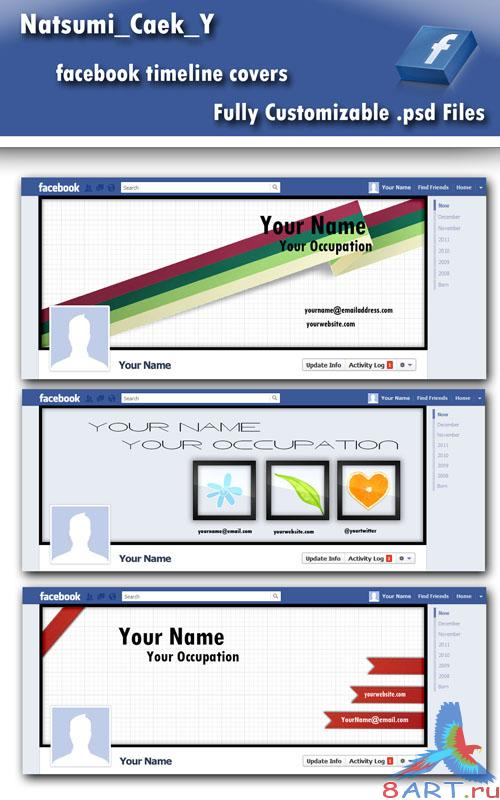 FaceBook TimeLine Covers PSD Template