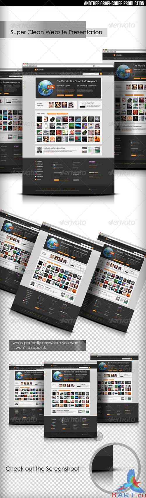 GraphicRiver - Super Clean Web Mock-Up RETAIL
