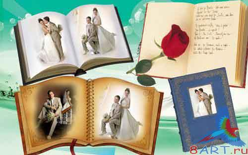 PSD-Wedding books