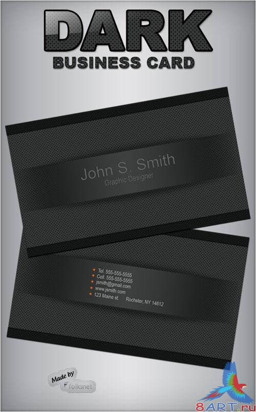 PSD Template - Dark Business Card