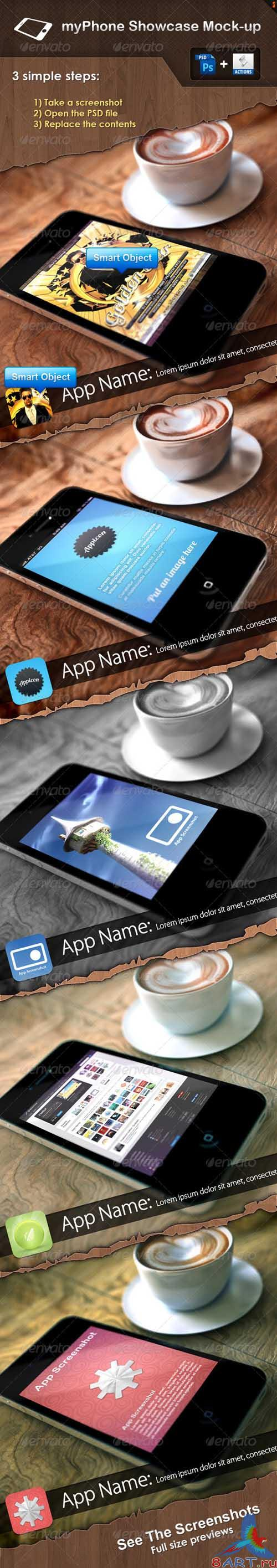 GraphicRiver myPhone Showcase Mock-up