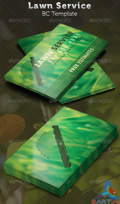 GraphicRiver Lawn Service Business Card Template