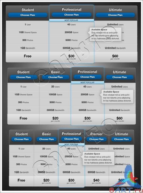 Griddler Pricing Grid 3 - GraphicRiver