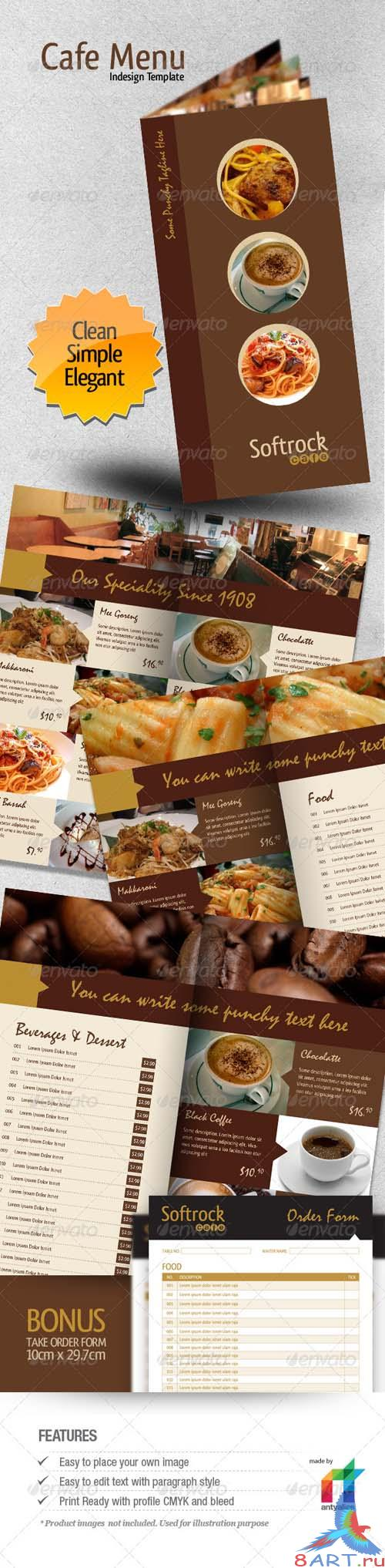 GraphicRiver - Cafe Menu Indesign Template 147838