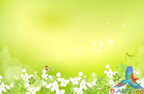 PSD - Bright Green Template