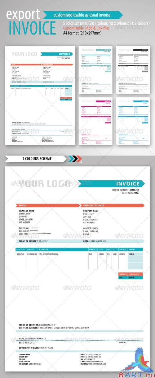 GraphicRiver Export Invoice Template