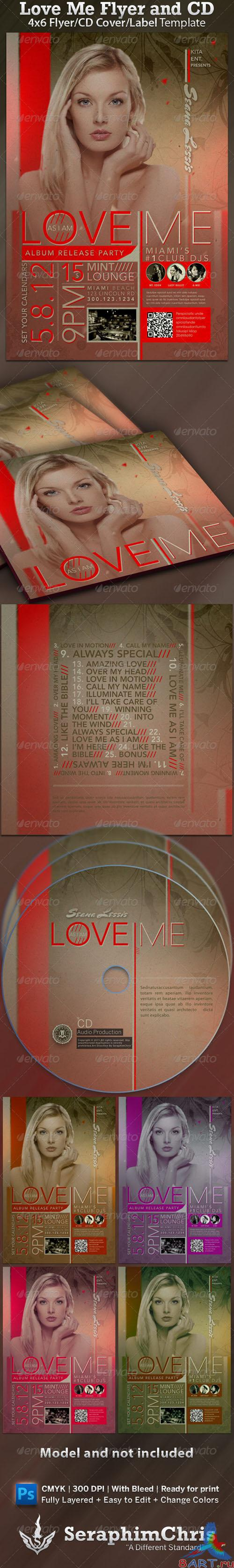 GraphicRiver - Love Me CD Cover and Flyer Template 1545746