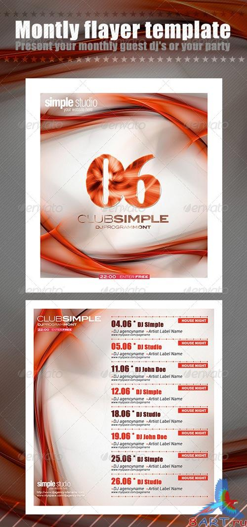 GraphicRiver Monthly Flayer Template