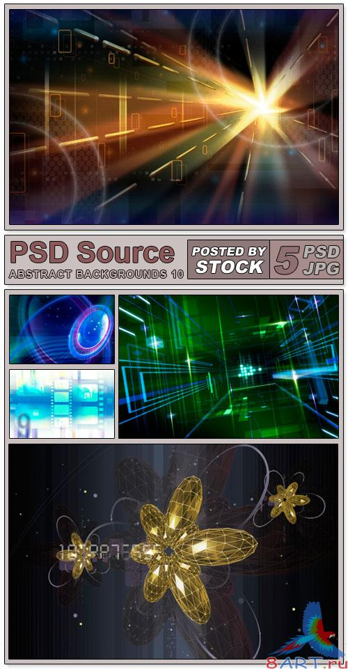 Layered PSD Files - Abstract backgrounds 10