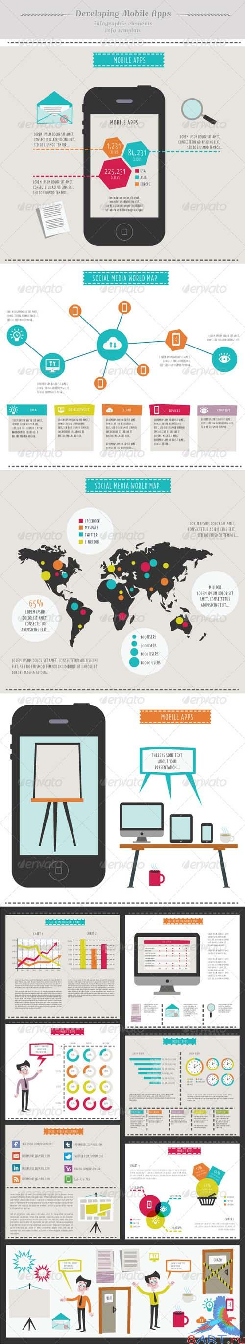 GraphicRiver Developing Mobile Apps - Infographic Elements - In