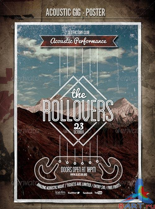GraphicRiver Acoustic GIG - Poster & Flyer