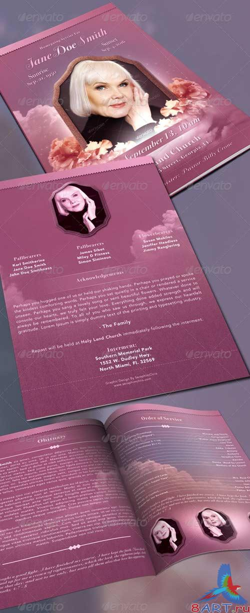 GraphicRiver Funeral Program Full Page Bi-Fold Template